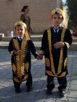 Uzbek kids in traditional looks