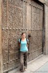 Handmade wooden door
